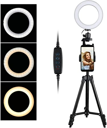 Thlevel 6 Led Ringleuchte Ringlicht Mit Stativ Und Elektronik