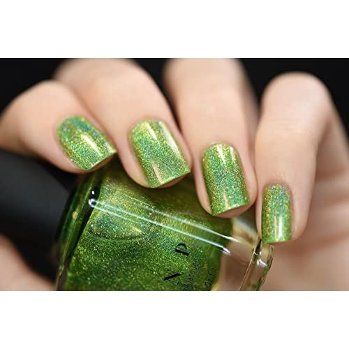 outlet ILNP 1UP - Vivid Lime Green Holographic Nail Polish - diese17 ...