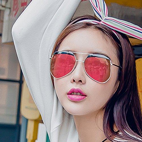 sol Color de Marco Viaje Harajuku Retro Redondo Estilo C C de Amazing Femenino Gafas Espejo TwHqH1