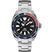Seiko Men's Prospex Special PADI Edition Samurai Black Dial Stainless Steel Bracelet Watch - Model: SRPB99