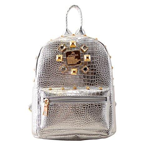 LA HAUTE - Bolso mochila  para mujer dorado plata