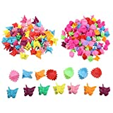 200 Packs Mini Plastic butterfly Colorful hair claw clips Accessories, for girls and women