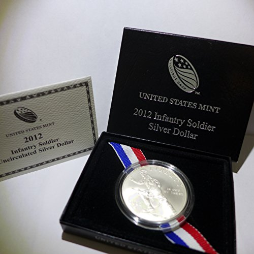 2012 W Commemorative Infantry Soldier Silver Dollar Uncirculated US Mint