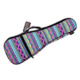 MUSIC FIRST Cotton 21'' Soprano Pink Geometric Patterned Ukulele Bag Ukulele Cover Ukulele Case Version 2.0