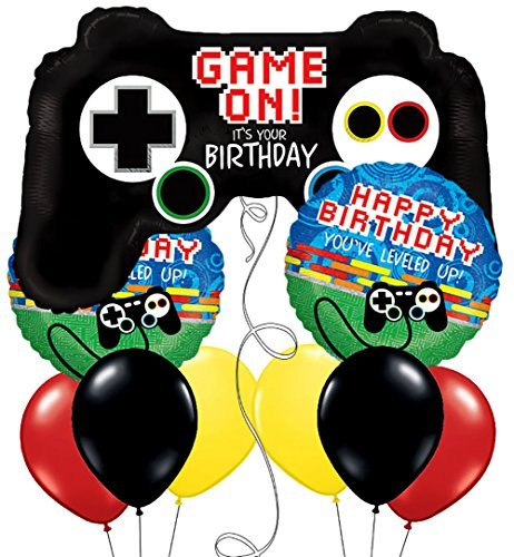 Video Game Controller Gaming Birthday Design Set of 9 -