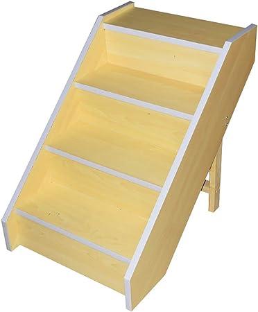XUEYAN Escalera de Madera para escaleras de Mascotas para Perros Grandes y Gatos para Camas Altas y sofá, Taburete de 4 Pasos para niños (Color : Amarillo): Amazon.es: Hogar