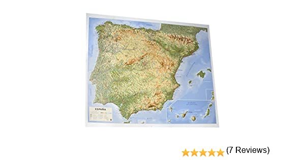 Mapa en relieve España físico: Escala 1:200.000: Amazon.es: All 3D Form S. L.: Libros