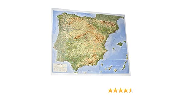 Mapa en relieve España físico: Escala 1:200.000: Amazon.es: All 3D ...