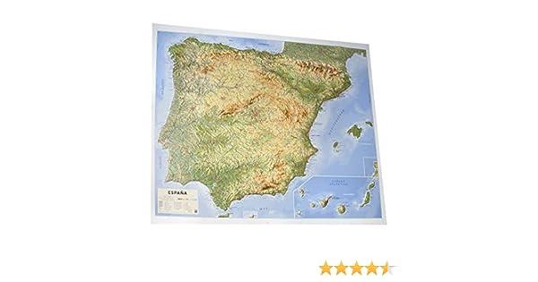 Mapa en relieve España físico: Escala 1:200.000: Amazon.es: All 3D ...