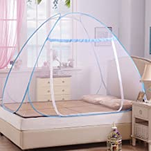 Free Installation Mosquito Net, ZONV Pop Up Mosquito Canopy Foldable Mongolia Package Encryption Dome Netting Tent for Bed ,Students,Camping,Travel