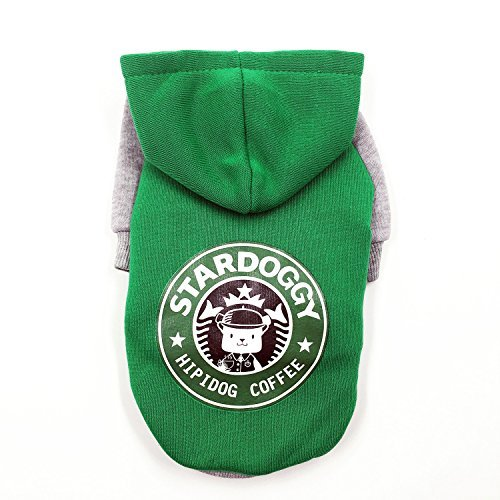 FitPetX Small-size Terriers Lovely Pets Clothes with a Hat Clothes(Green,M)