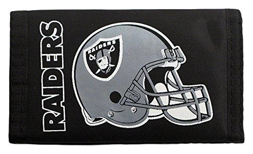 NFL Oakland Raiders Nylon Trifold Wallet (Wallet Nylon Velcro)