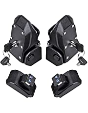 Astra Depot 1 Pair Hood Lock Latches Buckle Pins Catch and 4 Keys Compatible with 2018 2019 2020 2021 Jeep Wrangler JL 2 4 Door