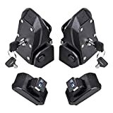Astra Depot 1 Pair Hood Lock Latches Buckle Pins Catch with 4 Keys for 2018 2019 Jeep Wrangler JL 2 4 Door