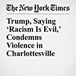 Trump, Saying 'Racism Is Evil,' Condemns Violence in Charlottesville | Glenn Thrush