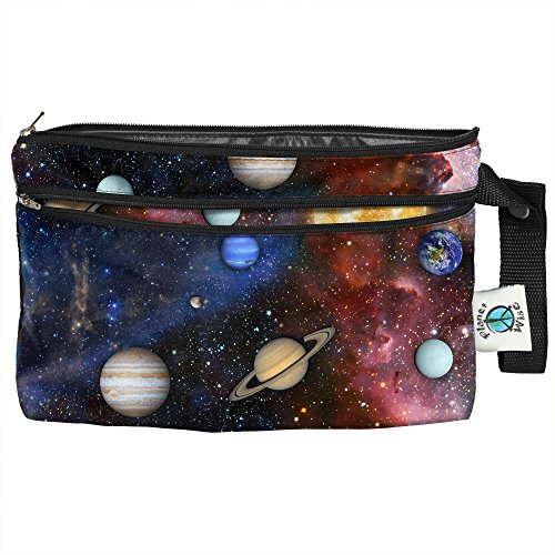 - Planet Wise Clutch Wet/Dry Bag, Far Far Away, Made in The USA