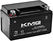 KMG Battery Compatible with Kymco 50 Super 8 2009-2012 YTX7A-BS Sealed Maintenance Free Battery High PerForman