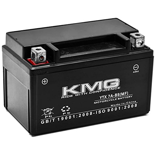 KMG Kawasaki 250 EX250 Ninja 250R 2008 YTX7A-BS Sealed Maintenace Free Battery High Performance 12V SMF OEM Replacement Maintenance Free Powersport Motorcycle ATV Scooter Snowmobile KMG