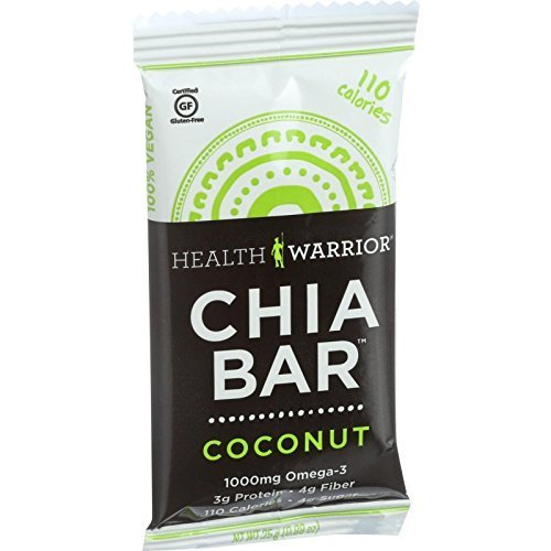 HEALTH WARRIOR BAR CHIA COCONUT 100CAL, 0.88 OZ, PK- 15