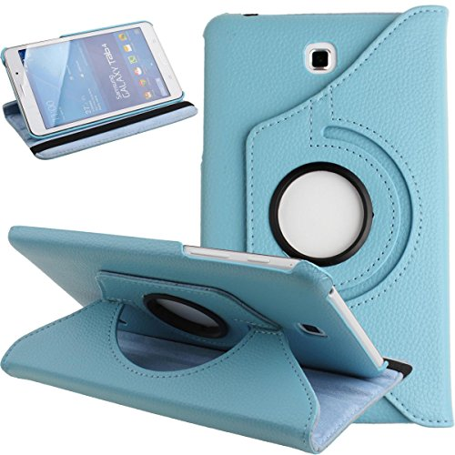 Galaxy Tab 4 7.0 Case,Flip Case for Galaxy Tab 4 7-inch Tablet,Folio Nook PU Leather 360 Degree Swivel Stand Case Cover for Samsung Galaxy Tab 4 7-inch Tablet T230 /T231/ T235,Light Blue (Samsung 7 Tab 4 Case)