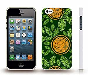iStar Cases? iPhone 4 Case with Oranges and Leaves, Graphic Design with Orange Circles and Green Leaves , Snap-on Cover, Hard Carrying Case (White)