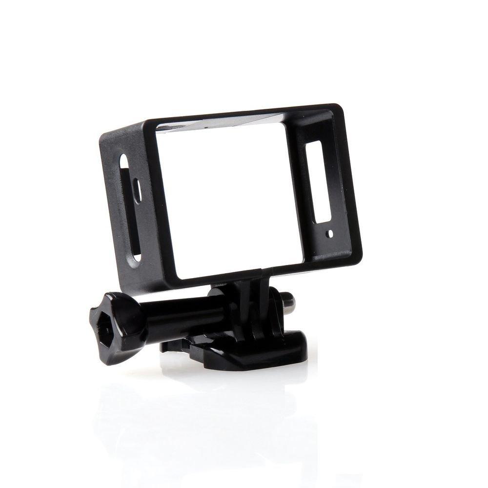 williamcr caja de protección lateral marco para pantalla plana para SJCAM SJ5000 y SJ5000 Wifi con base tornillos largos
