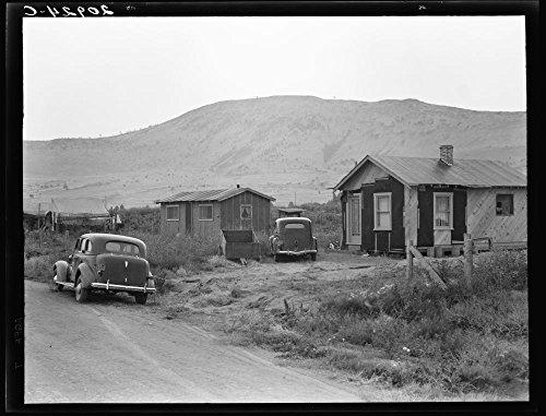 Shacktown in Altamont district. Note tent. Near Klamath Falls, Klamath County, Oregon