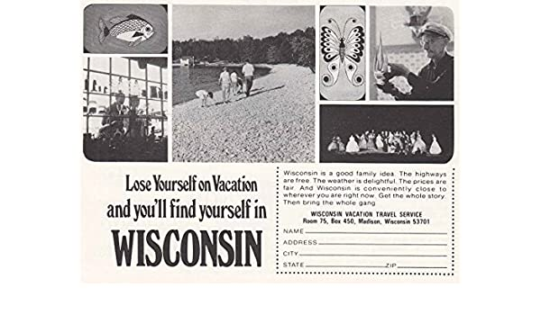 Amazon 1968 wisconsin lose yourself wisconsin tourism print amazon 1968 wisconsin lose yourself wisconsin tourism print ad posters prints solutioingenieria Gallery