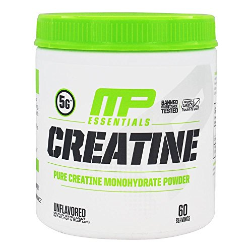 MusclePharm Essentials Micronized Creatine, Ultra-Pure 100% Creatine Monohydrate Powder, Muscle-Building, 60 Servings