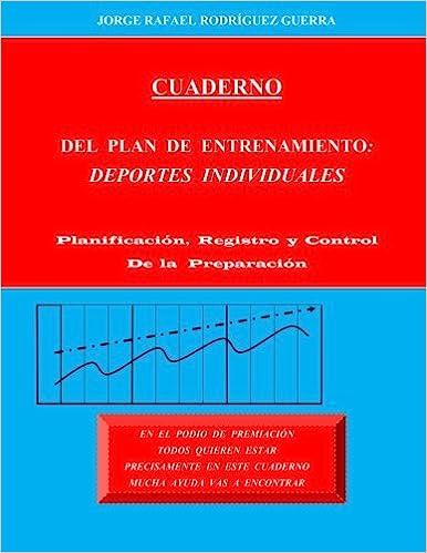 cuaderno del plan de entrenamiento deportes individuales