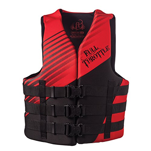 Full Throttle Men's Dual Sized Rapid Dry Life Vest, Red, Large/X-Large