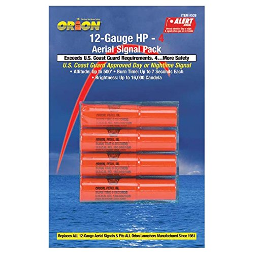 Orion Safety Areial Flare Refill, Red (4 Pack) 12 Gauge Aerial Handheld