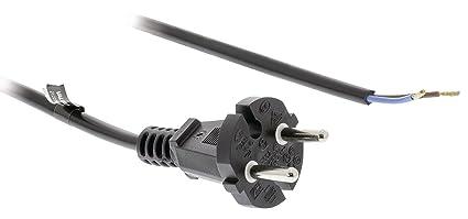 Eurosell - 6 Meter Profi Staubsauger Stromkabel Strom Power Kabel Schnur - zb Ersatz für Vorwerk Kobold 118 119 120 121 122 S