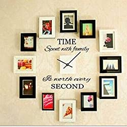 Balabella Time Spent with Family Is Worth Every Second,Wall Decal Home Decor Art