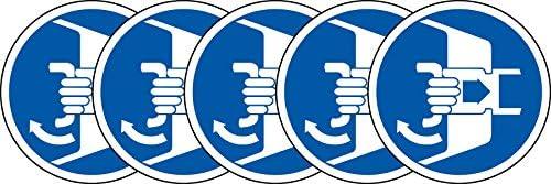 ISO etiqueta de seguridad – señal de símbolo internacional de cerca y escotillas en secuencia de lanzamiento seguro – autoadhesivo adhesivo 100 mm de diámetro (Pack de 5 pegatinas): Amazon.es: Oficina y papelería