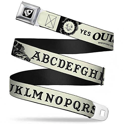 Belt - Ouija Board Elements1 White/Black - 1.5