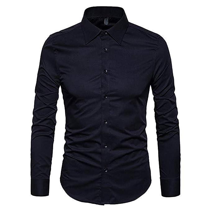 Camisas de manga larga elegante slim fit para hombre color mate.