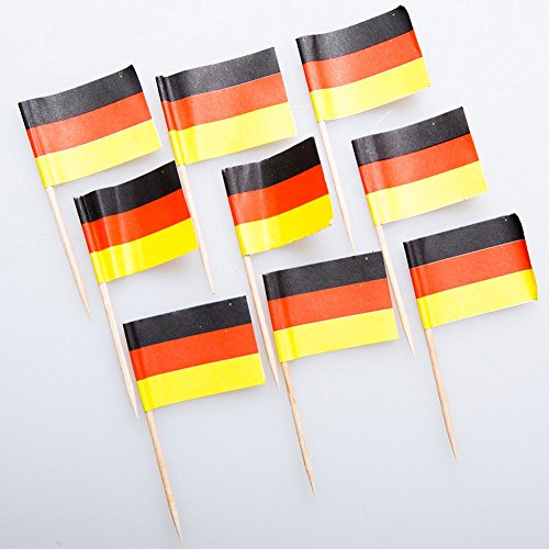 German Flag Food Picks (German Decorations)