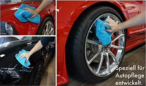 Ronulus Premium Microfasertücher 2x Set Für Professionelle Autopflege Extrem Saugstarke Und Flauschige Trockentücher Lackschonend Und Fusselfrei Für Perfekte Ergebnisse Jedes Mal 40x40cm Auto