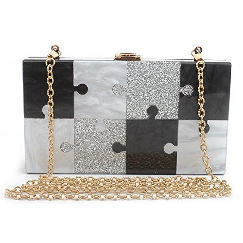 Bag Ladies NBWE Small Elegant Handbag Purse Clutch Clutch Black Wedding Bridal Diamante Handbag Party Evening Bridal Crossbody gY4qpw54r