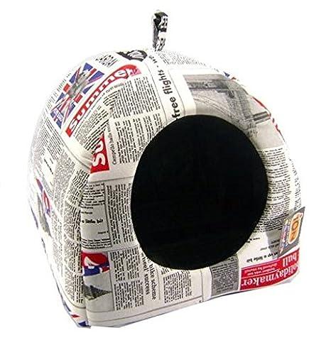 iOn Iglú para Perro y Gato, diseño periódico: Amazon.es: Productos para mascotas