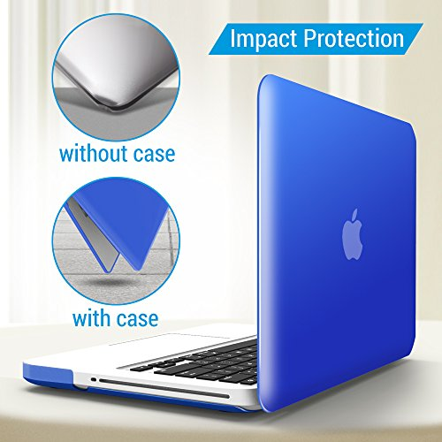 iBenzer Basic Soft-Touch Series Plastic Hard Case & Keyboard Cover Apple MacBook Pro 13-inch 13'' CD-ROM A1278 (Previous Generation) (Royal Blue) by iBenzer (Image #4)