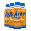 Mountain Falls Active Sport Sunscreen Continuous Spray, SPF 30 Broad Spectrum UVA/UVB Protection, Compare to Banana Boat, 6 Fluid Ounce (Pack of 4)