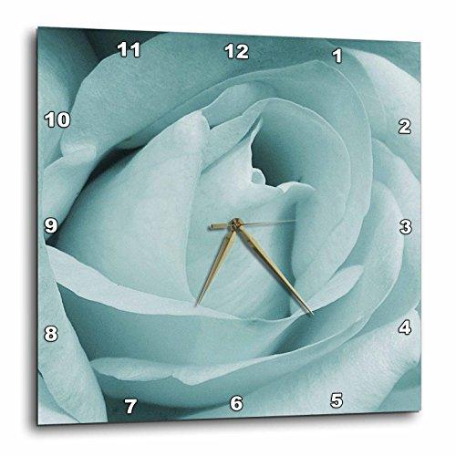 3dRose dpp_31975_2 Pale Aqua Rose-Wall Clock, 13 by 13-Inch ()