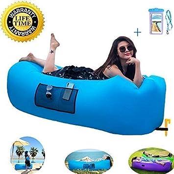 Saco de Dormir Inflable rápido para el Aire Libre, para Uso en Interiores o Exteriores
