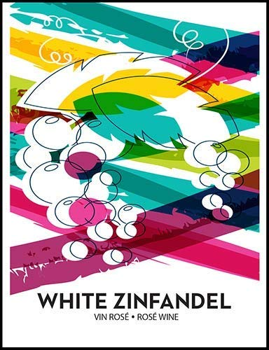 (White Zinfandel Wine Bottle Labels)