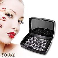 Long Dual Magnetic False Eyelashes, 0.2mm Ultra Thin 3D Reusable Fake Lashes, Full Size Natural Look 1 Pair 4 Pieces-052