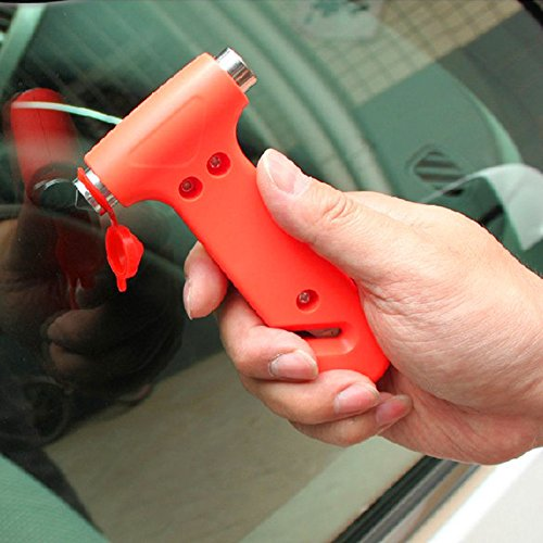MAZIMARK--2pcs Car Window Seat Safety AUTO Emergency Life-Saving Hammer Belt Cutter Tool