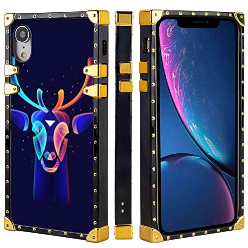 Deer Lighting Square Case Fit for iPhone Xr (2018) (6.1