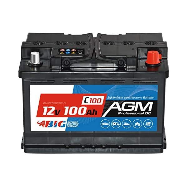51dkNJyJP7L BIG AGM Batterie 100Ah C100 12V Solarbatterie Versorgungsbatterie Mover Bootsbatterie